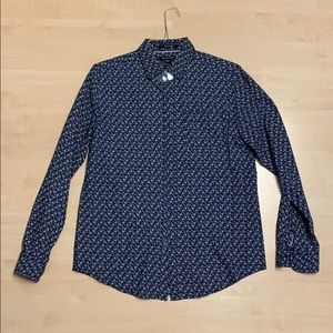 Men's Button Down Shirt Size Medium Floral Print